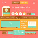 Modern Flat Style UI interface design elements Royalty Free Stock Images