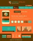 Modern Flat Style UI interface design elements Stock Photos