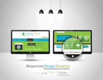 Modern Flat Style UI interface design elements royalty free illustration