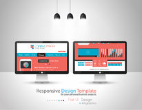 Modern Flat Style UI interface designs Royalty Free Stock Photography