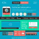 Modern Flat Style UI interface designs Royalty Free Stock Images