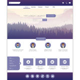 Modern Flat style website design concept. Vector Eps 10 Stock Photos