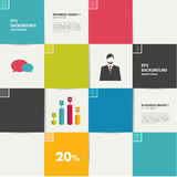 Modern flat template. Colorful minimalistic option Stock Photo