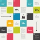 Modern flat template. Colorful minimalistic option Royalty Free Stock Image