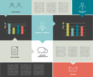 Modern flat template. Colorful minimalistic option Royalty Free Stock Photos