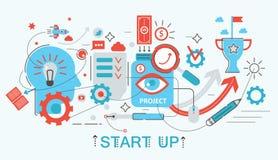 Modern Flat thin Line design Start up and development concept   Stock Image