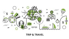 Greenery concept of travelling around the world Royalty Free Stock Photos