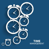 Modern Flat Time Management Vector Icon for Web Royalty Free Stock Images