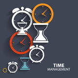 Modern Flat Time Management Vector Icon for Web Royalty Free Stock Image