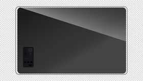 Modern Flat Tv Screen - Back View - Transparent Background vector illustration