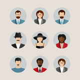 Modern flat vector avatars. Male and female user icons Royalty Free Stock Images