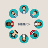 Modern flat vector avatars. Male and female user icons Royalty Free Stock Photos