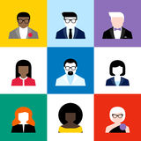 Modern flat vector avatars set. Colorful user icons Royalty Free Stock Photos