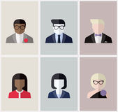 Modern flat vector avatars or user icons Stock Photo
