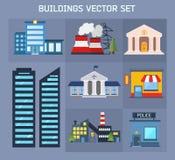Modern  flat vector  buildings set. Stock Photography
