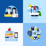 Modern flat vector concept of educational elements Stock Images
