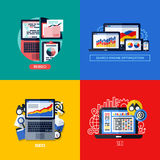 Modern flat vector concepts of search engine optimization (SEO) Stock Images