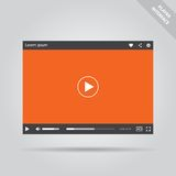 Modern flat video player interface Royalty Free Stock Images