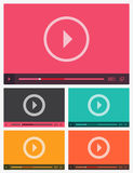 Modern flat video player interface. Stock Photos