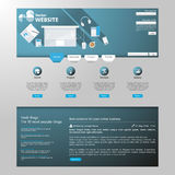 Modern Flat Website Template EPS 10 Vector illustration Stock Images