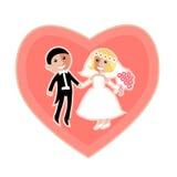 Modern flat  wedding icon Royalty Free Stock Images