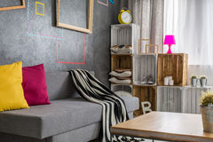 Modern flat with window Stock Images
