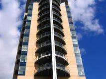 Modern Flatgebouw in Manchester Stock Afbeelding