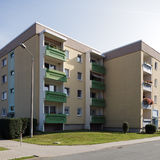 Modern flats. Exterior of modern block of flats royalty free stock image