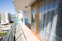 Modern flats balcony Stock Image