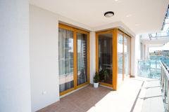 Modern flats balcony. Outdoor view Royalty Free Stock Images