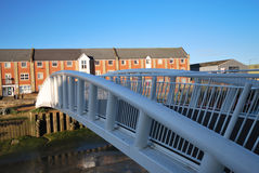 Modern flats with bridge Stock Images
