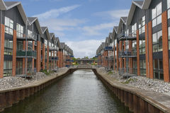 Modern Flats at the Canal Royalty Free Stock Photo