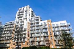 Modern flats at caspian wharf. In London Royalty Free Stock Image