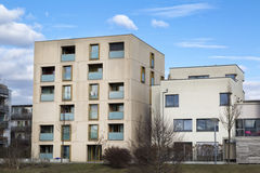 Modern flats. New modern flats, contemporary apartments stock photography