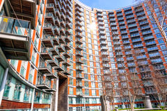 Modern flats at new providence wharf. In London Stock Image