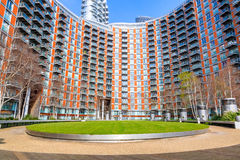 Modern flats at new providence wharf. In London Royalty Free Stock Images