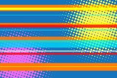 Modern flerfärgad rastrerad bakgrund för popkonst Royaltyfri Bild