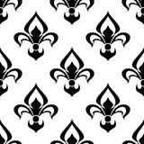 Modern fleur de lys background seamless pattern Stock Image
