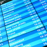 Modern flight information board Stock Image
