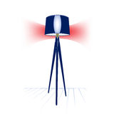 Modern floor lamp. Electric modern floor lamp in vector Stock Images