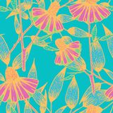 Flowers pattern design royalty free illustration