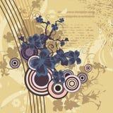 Modern floral background Stock Image
