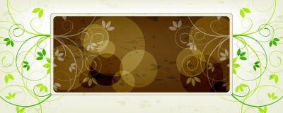 Modern floral, banner Stock Photos