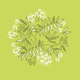 Modern floral design with tropical abstract leaves. Stock Images