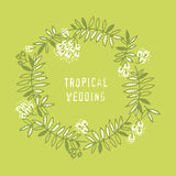 Modern floral design with tropical abstract leaves. Royalty Free Stock Photography