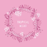 Modern floral design with tropical abstract leaves. Royalty Free Stock Photos