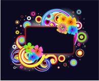 Modern floral frame Stock Photos