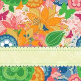 Modern Floral Greeting Card Royalty Free Stock Photos