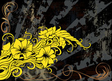 Modern floral grunge decorative background Stock Images