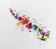 Modern floral illustration Stock Photos